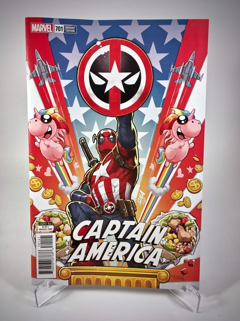 Captain America #701 variant cover by David Nakayama