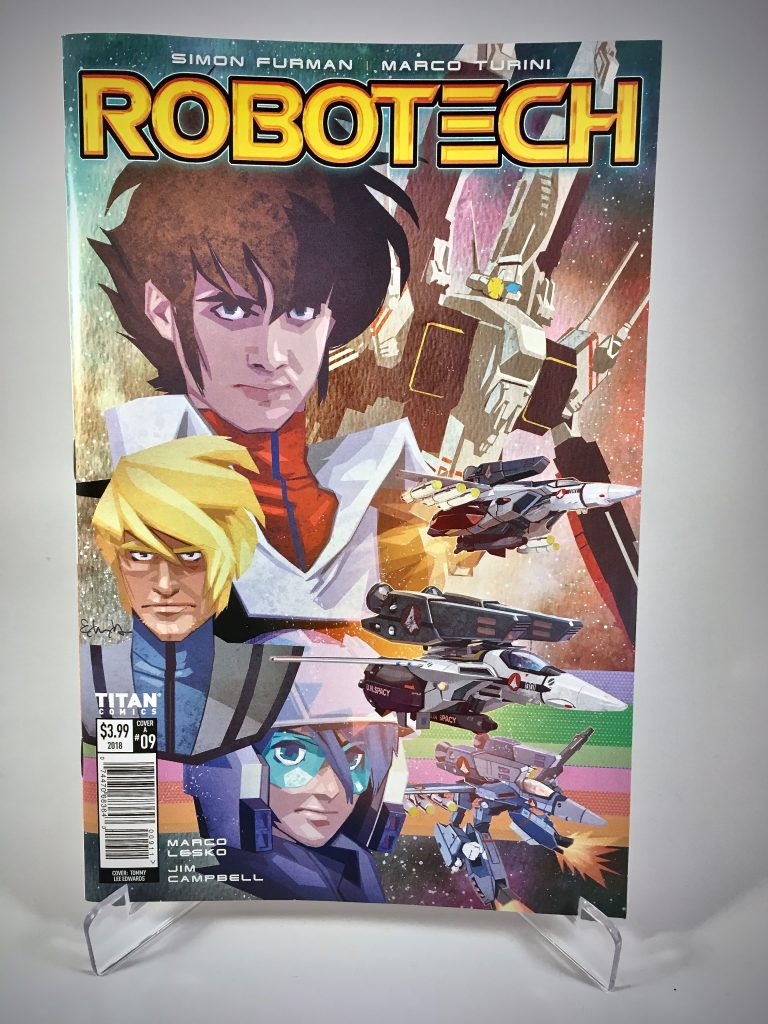 Robotech #9 cover by Tommy Lee Edwards