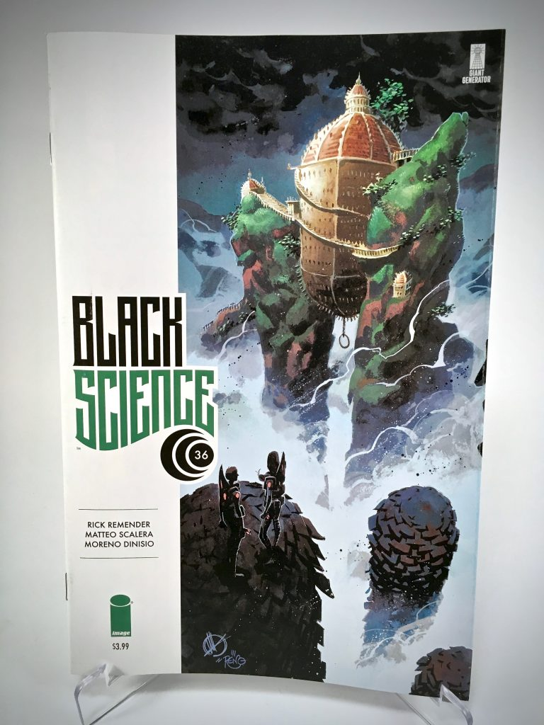 Comic Book Cover: Black Science #36 by Matteo Scalera and Moreno Dinisio
