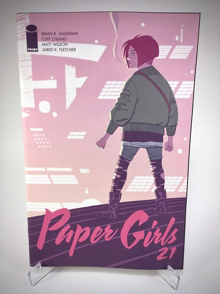 Paper Girls #21 cover by Cliff Chiang